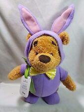 Hallmark Springtime Fun Winnie The Pooh Purple Bunny Outfit Sound Motion