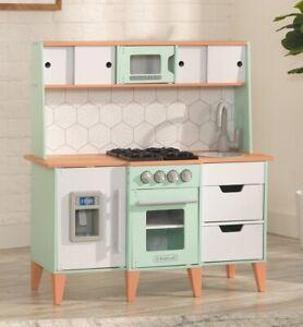 Kidkraft Mid-Century Modern Play Kitchen   Kids Wooden Toy Kitchen