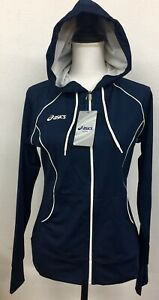 Asics Women's Alana Jacket Activewear Workout Blue White Zip NWT $58 Choose Sz