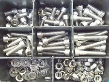 180 pezzi acciaio inox ASSORTIMENTO SET DIN 912 SCATOLA M3