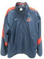 Nike USA Hockey Jacket Storm Fit Mens Size S Navy Blue Full Zip Olympics Rare