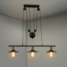 Retro Industrial Pulley Island Light Linear Pendant Light Ceiling Hanging Light