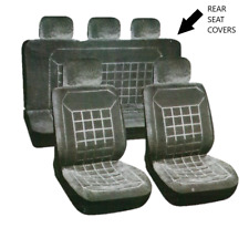 Grey Velour PREMIER Car Seat Covers - Universal Rear Covers