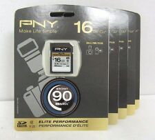 LOT OF 5 NEW PNY 16GB SDHC Elite Performance Memory Card - P-SDH16U1H-GE