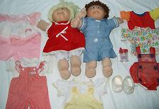 Cabbage Patch Kids Dolls Boy Girl Brown Blonde 1982 1987 JENNY VINCENT 1982 LOT