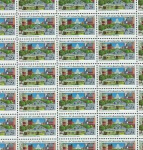 #2561 29 cent District of Columbia Bicentennial full mint sheet of 50 MNH OG