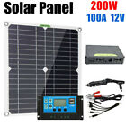 200W Solar Panel Kit 12V 100A battery Charger Controller Caravan Boat Outdoor US