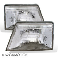 1998-2000 Replacement Headlight Pair For Ranger Pickup Truck w/Bulb