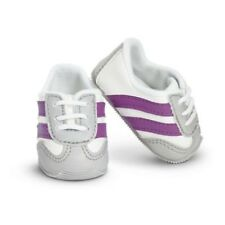 American Girl Doll Clothes STRIPED SPORTS SHOES White Purple Truly Me NEW