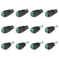 6Pairs 5.5x2.1mm Male Female DC Power Jack Connector Spring Terminal for CCTV