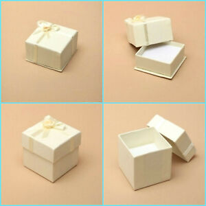 12 x Ivory Satin Ribbon Wedding Favour Boxes/ Sweet/ Gift Boxes/ Party Favours