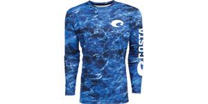 COSTA Tech Shirt LS Mossy Oak Elements Blue UPF 50+ Like Simms Solarflex S LAST