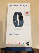 Fitbit Charge 2  Heart Rate Fitness Tracking Wristband - Blue