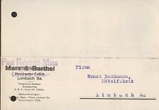 LIMBACH, Postkarte 1927, Paul Reinhold Marx Matallwaren-Fabrik