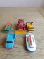 5 Vintage Matchbox Lesney Diecast Play Worn Vehicles