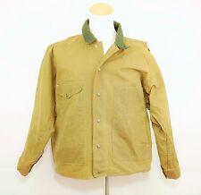 Vintage C.C. FILSON CO. Brown Waxed Cotton Coat - Field Hunting Jacket  MEN'S XL