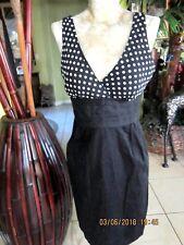 MAURICES!>>40's-50's Style Dress>Black&White Polka Dot TOP!>BOTTOM Black!>Size 5