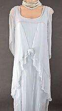 Nataya Dress SALE Blue Long Victorian Vintage style Sheer Formal 1920's style S