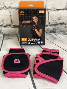 Pink Fitness Gym Weight Lifting Straps Power Training Workout Wrist Wraps Gloves