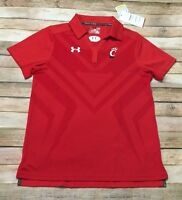 Cincinnati Bearcats Under Armour Polo Womens Small Red NCAA College NWT MSRP $65