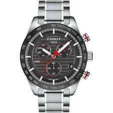 TISSOT T100.417.11.051.01 PRS 516 SILVER STAINLESS STEEL CHRONOGRAPH MENS WATCH