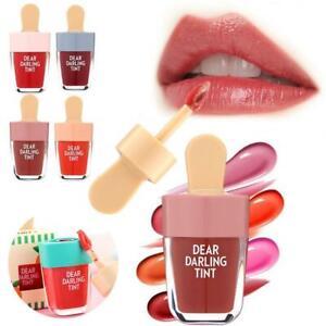 Ladies Womens Ice Cream Tint Lip Glaze Cream Water Gel Lip Tint Lipstick