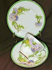 Vintage Royal Doulton GLAMIS THISTLE H4601 TRIO Cup Plate Saucer  P Curnock