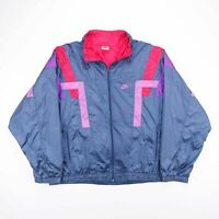 Vintage NIKE 90's Blue Lightweight Track Shell Sports Jacket Mens Size Large