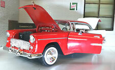 G LGB 1:24 Scale 1955 Chevrolet Chevy Bel Air Hard Top Motormax Car 73229 Red