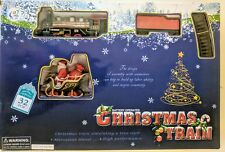 CHRISTMAS TOY TRAIN SET 32 Pieces 88cmx66cm TRACK STATION & SANTA, TREES