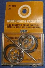 STROMBECKER 1:24 SCALE SLOT CAR REPLACEMENT PARTS DRAGSTER FRONT CHROME WHEELS T