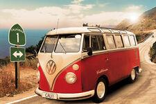 Poster CARS - VW BUS - California Camper ca90x60cm NEU 57369