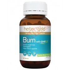 Herbs Of Gold BURN WITH SVETOL 60-Tablets, Assists Weight Loss *Aust Brand
