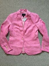Jcrew Campbell blazer in linen BEST SELLER Jacket G0993 Pink Size 4 SOLD OUT!