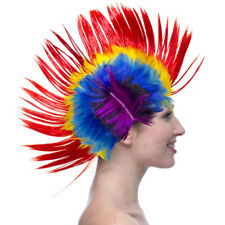 Mens Mohawk Hair Wig Mohican Punk Rock Fancy Dress Cosplay Party Costume 1980's