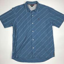 Quiksilver Men's Button Up Shirt Size XL Blue RA1