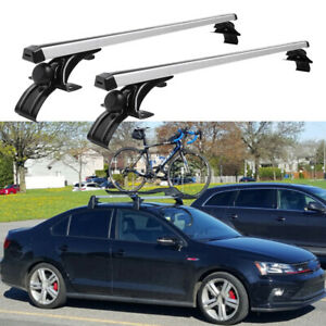 """For VW Golf Jetta MK6 46"""" Top Roof Rack Cross Bar Cargo Bicycle Carrier Silver"""