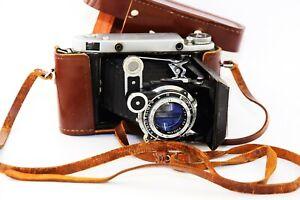 OLD RARE MOSKVA-5 Soviet Folding Camera Super Ikonta Medium Format w/s lens EXC