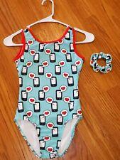 Destira Girl's Gymnastics Leotard size Jr 12-14 Cell Phone Hearts