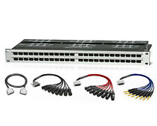 Redco R196-D25PG TT Patchbay | 12 Custom 10ft. Premium Mogami DB25 Cables | PALA
