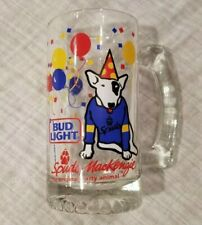 Spuds McKenzie Bud Light Glass Stein Mug The Original Party Animal 1987