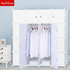 DIY 12 16 Cube Storage Cupboard Cabinet Wardrobe Rack Toy Book Shelves Compartme