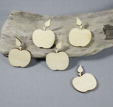 5 x apple  shape - apples MDF /  Birch Plywood Laser Cut Wooden Shape Blank MDF