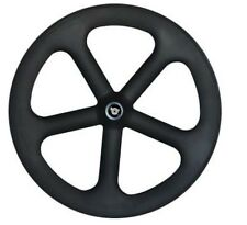 5 spoke wheel full carbon fiber with novatec hub tubular type 700C 20.5mm width