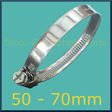 Stainless Steel Hose Clamp / Jubilee Clip 50 - 70mm Automotive Grade