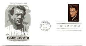4421 Gary Cooper, Legend of Hollywood 2009,  ArtCraft,  FDC