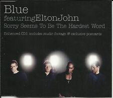 ELTON JOHN w/ BLUE Sorry XMAS & VIDEO CD Single SEALED w/ POSTCARDS  USA Seller