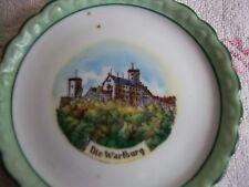 """Piatto piatto di porcellana""""Die Wartburg""""Eisenach piccolo Piatto da collezione"""
