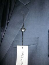 Calvin Klein Mens Suit Separates Jacket 100% Wool Navy Shark Size 40 S $395 NWT