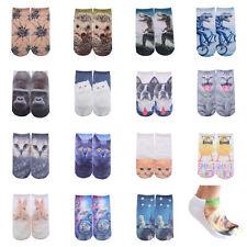 New 3D Cute Animal Print Socks Women Men Casual Socks Unisex Low Cut Ankle Socks